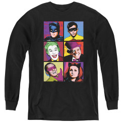 Image for Batman Classic TV Youth Long Sleeve T-Shirt - Pop Cast