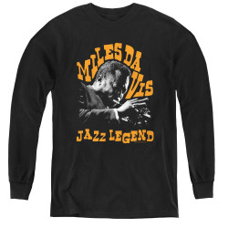 Image for Miles Davis Youth Long Sleeve T-Shirt - Jazz Legend