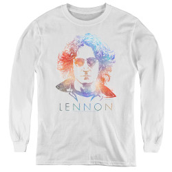 Image for John Lennon Youth Long Sleeve T-Shirt - Colorful