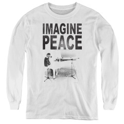Image for John Lennon Youth Long Sleeve T-Shirt - Imagine