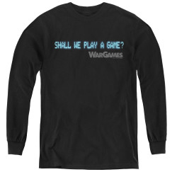 Image for Wargames Youth Long Sleeve T-Shirt - Shall We