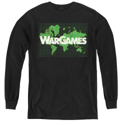 Image for Wargames Youth Long Sleeve T-Shirt - Game Board