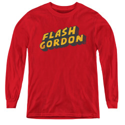Image for Flash Gordon Youth Long Sleeve T-Shirt - Logo