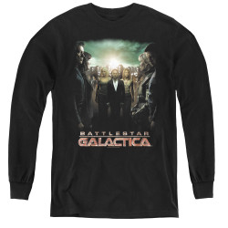 Image for Battlestar Galactica Youth Long Sleeve T-Shirt - Crossroads