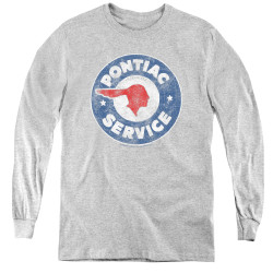 Image for Pontiac Youth Long Sleeve T-Shirt - Vintage Pontiac Service