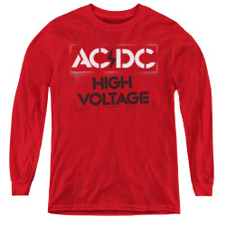 Image for AC/DC Youth Long Sleeve T-Shirt - High Voltage Stencil