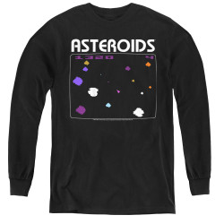 Image for Atari Youth Long Sleeve T-Shirt - Asteroids Screen