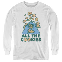 Image for Sesame Street Youth Long Sleeve T-Shirt - Cookie Monster All the Cookies
