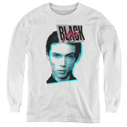 Image for Andy Black Youth Long Sleeve T-Shirt - Raised Eyebrow