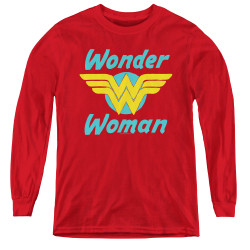 Image for Wonder Woman Youth Long Sleeve T-Shirt - Wings