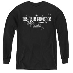 Image for Bewitched Youth Long Sleeve T-Shirt - Broomstick