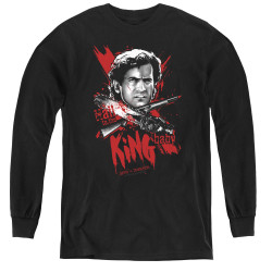 Image for Army of Darkness Youth Long Sleeve T-Shirt - Hail to the King