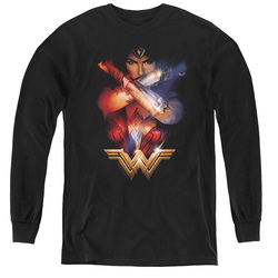 Image for Wonder Woman Movie Youth Long Sleeve T-Shirt - Arms Crossed