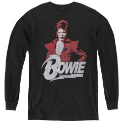 Image for David Bowie Youth Long Sleeve T-Shirt - Diamond Dave