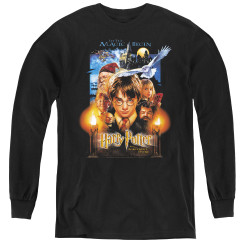 Image for Harry Potter Youth Long Sleeve T-Shirt - Movie Poster