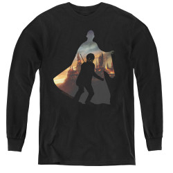 Image for Harry Potter Youth Long Sleeve T-Shirt - Voldemort Looms