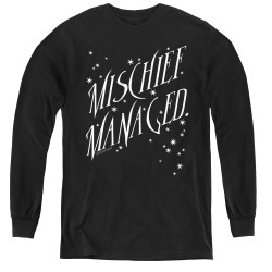 Image for Harry Potter Youth Long Sleeve T-Shirt - Sparkle Michief Managed