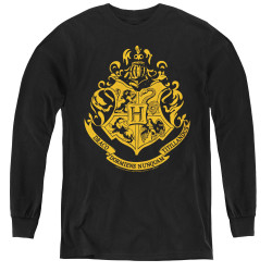 Image for Harry Potter Youth Long Sleeve T-Shirt - Classic Hogwarts Crest