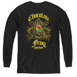 Image for Harry Potter Youth Long Sleeve T-Shirt - Chocolate Frog