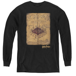 Image for Harry Potter Youth Long Sleeve T-Shirt - Marauder's Map