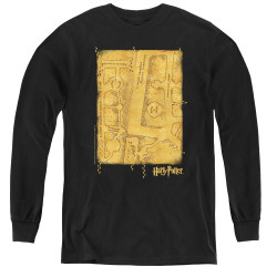 Image for Harry Potter Youth Long Sleeve T-Shirt - Marauder's Map Interior