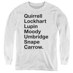 Image for Harry Potter Youth Long Sleeve T-Shirt - Professors