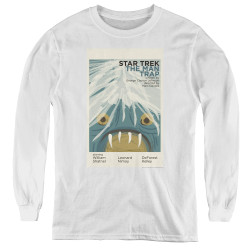 Image for Star Trek Juan Ortiz Episode Poster Youth Long Sleeve T-Shirt - Ep. 1 the Man Trap