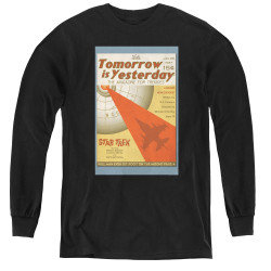 Image for Star Trek Juan Ortiz Episode Poster Youth Long Sleeve T-Shirt - Ep. 19 Tomorrow is Yesterday on Black