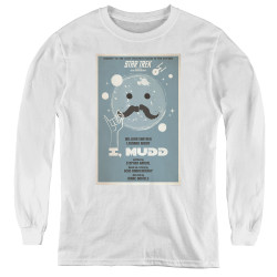 Image for Star Trek Juan Ortiz Episode Poster Youth Long Sleeve T-Shirt - Ep. 37 I, Mudd