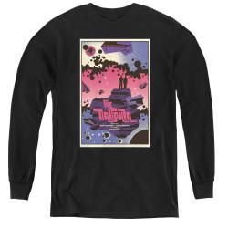 Image for Star Trek the Next Generation Juan Ortiz Episode Poster Youth Long Sleeve T-Shirt - Season 2 Ep. 10 Dauphin on Black