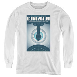 Image for Star Trek the Next Generation Juan Ortiz Episode Poster Youth Long Sleeve T-Shirt - Season 2 Ep. 11 Contagion