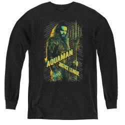 Image for Justice League Movie Youth Long Sleeve T-Shirt - Aquaman