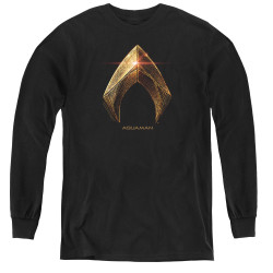 Image for Justice League Movie Youth Long Sleeve T-Shirt - Aquaman Logo