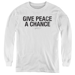 Image for John Lennon Youth Long Sleeve T-Shirt - Give Peace a Chance