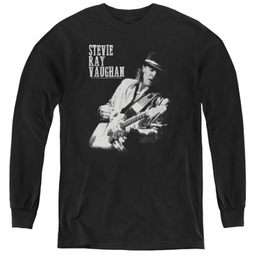 Image for Stevie Ray Vaughan Youth Long Sleeve T-Shirt - Live Alive