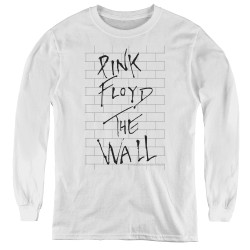 Image for Roger Waters Youth Long Sleeve T-Shirt - the Wall on White