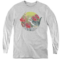 Image for Wild Wings Collection Youth Long Sleeve T-Shirt - Kitten Flowers