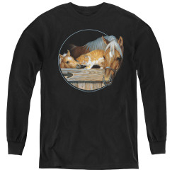 Image for Wild Wings Collection Youth Long Sleeve T-Shirt - Everyone Loves Kitty
