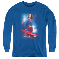 Image for Supergirl Youth Long Sleeve T-Shirt - Kara Zor-El