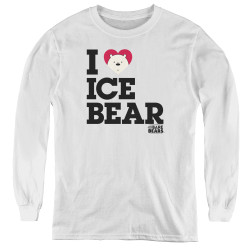Image for We Bare Bears Youth Long Sleeve T-Shirt - I Heart Ice Bear
