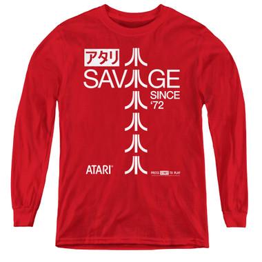 Image for Atari Youth Long Sleeve T-Shirt - Savage 72