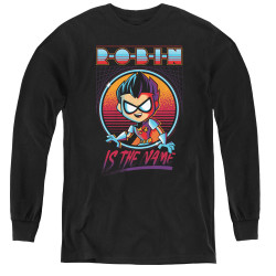 Image for Teen Titans Go! Youth Long Sleeve T-Shirt - Go to the Movies Robin