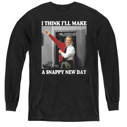 Image for Mr. Rogers Youth Long Sleeve T-Shirt - Snappy New Day