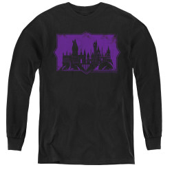 Image for Fantastic Beasts: the Crimes of Grindelwald Youth Long Sleeve T-Shirt - Howarts Silhouette