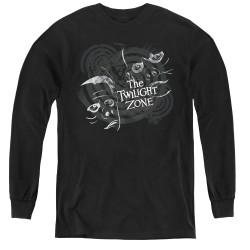 Image for The Twilight Zone Youth Long Sleeve T-Shirt - Strange Faces