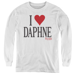Image for Frasier Youth Long Sleeve T-Shirt - I Heart Daphne
