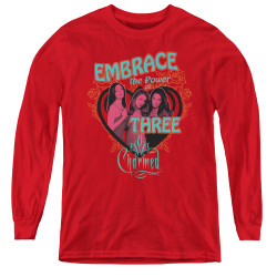 Image for Charmed Youth Long Sleeve T-Shirt - Embrace the Power