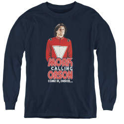 Image for Mork & Mindy Youth Long Sleeve T-Shirt - Come in Orson