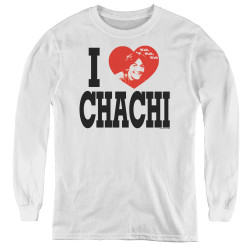 Image for Happy Days Youth Long Sleeve T-Shirt - I Heart Chachi