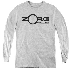 Image for The Fifth Element Youth Long Sleeve T-Shirt - Zorg Corporate Logo